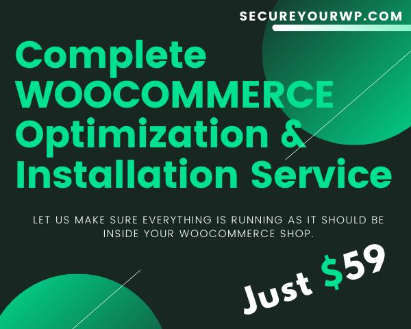 WOOCOMMERCE Optimization & Installation Service